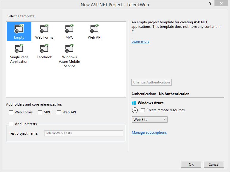 New ASP Project