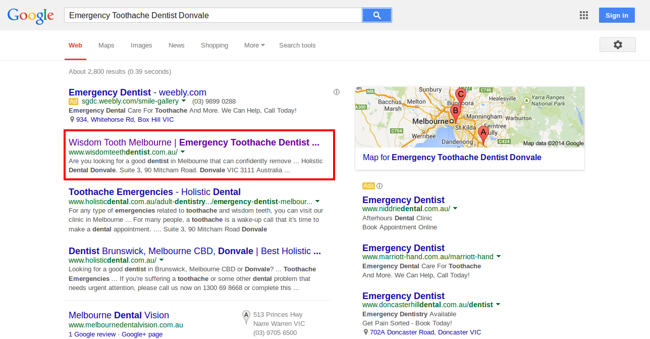 Emergency Toothache Dentist Donvale