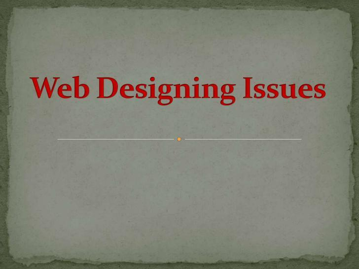 Web Designing Issues