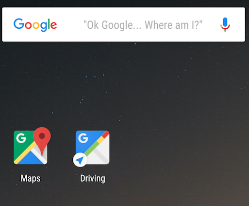 Google Maps Driving Mode Feature