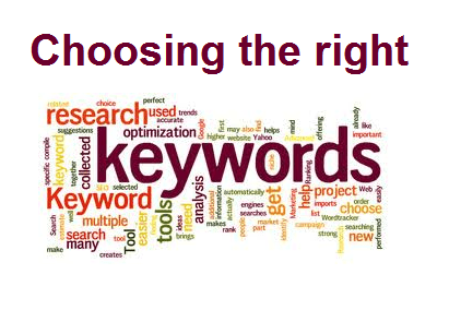 Right keywords with SEO